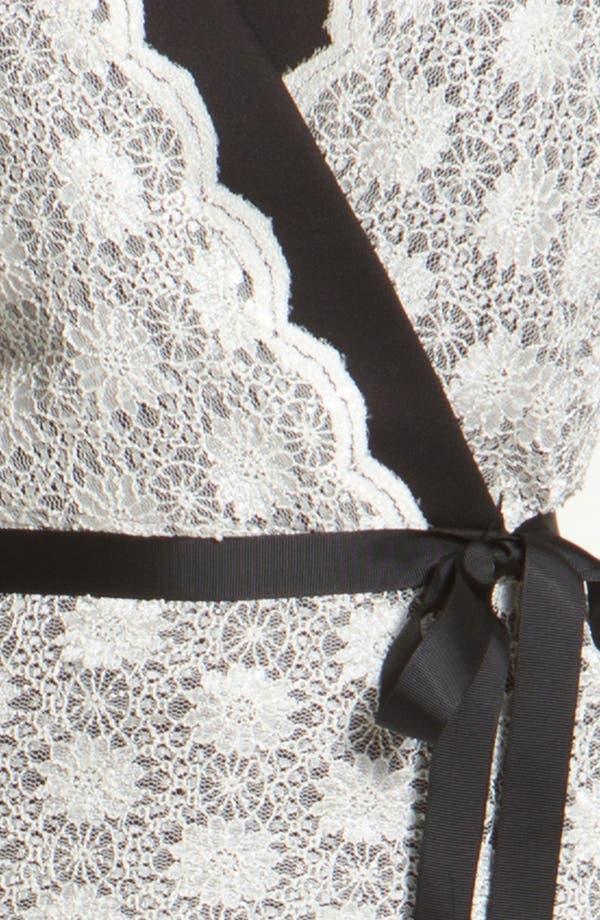 Alternate Image 3  - Alex Evenings Lace Faux Wrap Blouse