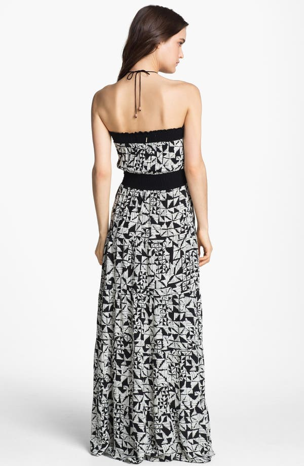Alternate Image 2  - Tbags Los Angeles Abstract Print Maxi Dress
