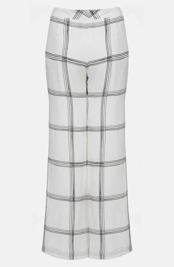 Alternate Image 3  - Topshop Unique Line Plaid Silk Wide Leg Pants