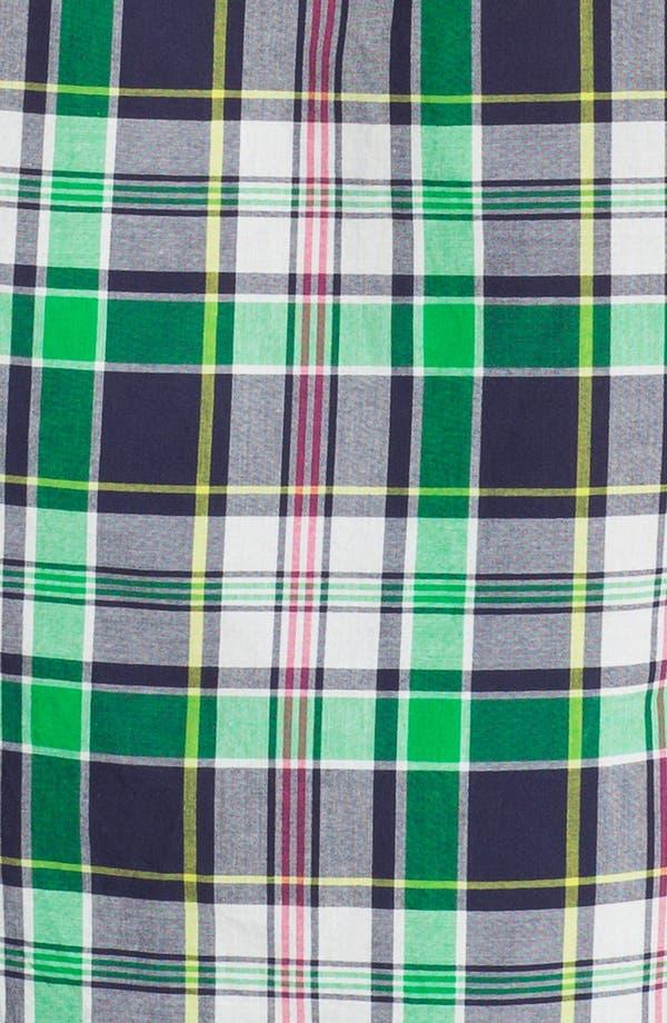 Alternate Image 2  - J. Press York Street Short Sleeve Plaid Cotton Shirt