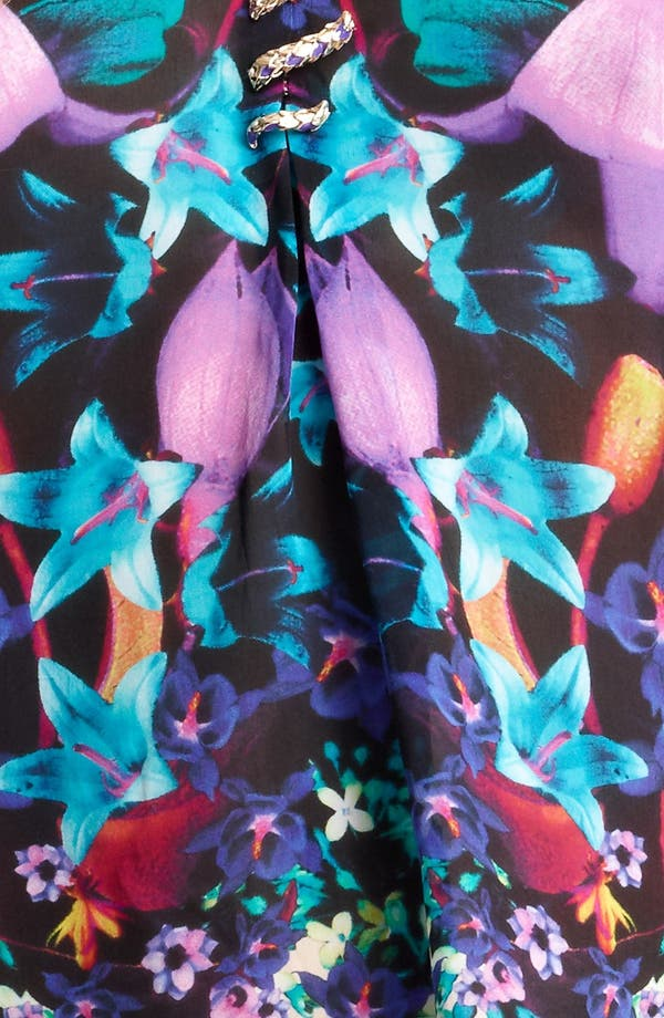 Alternate Image 3  - Roberto Cavalli Bloom Print Chiffon Caftan