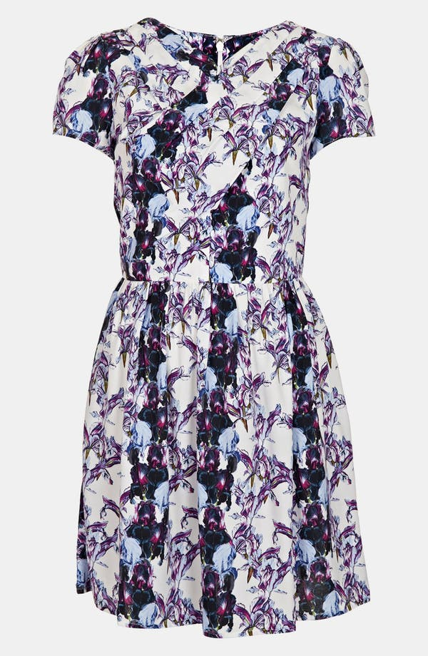 Alternate Image 1 Selected - Topshop 'Florence' Iris Print Dress