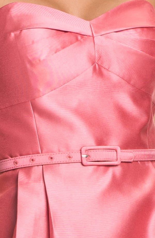 Alternate Image 3  - Eliza J Belted Strapless Faille Dress