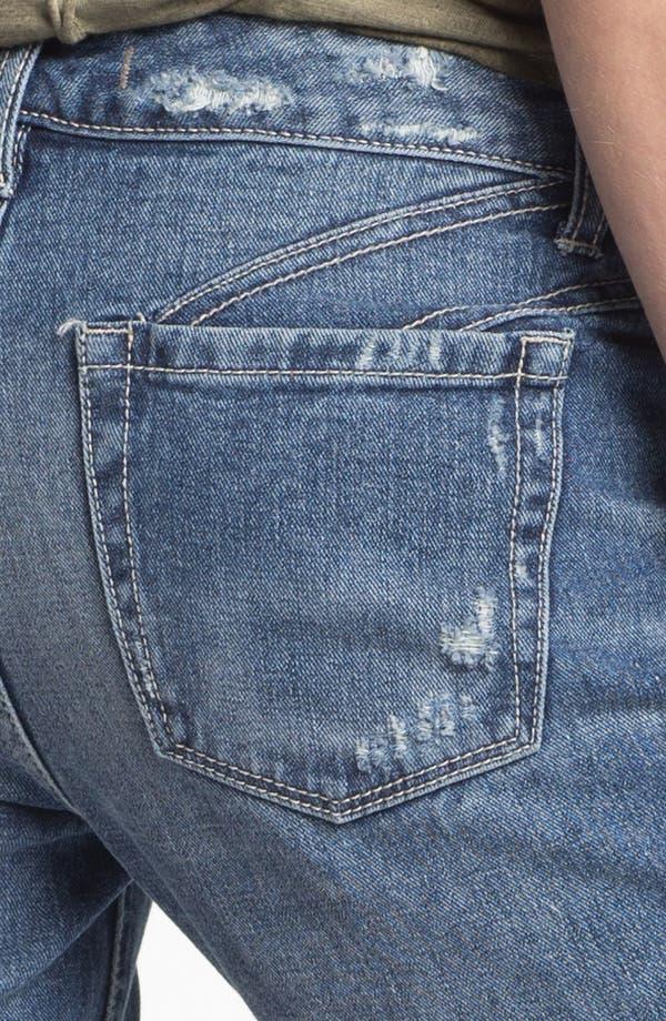 Alternate Image 3  - Free People Cutoff Crop Jeans (True Blue)