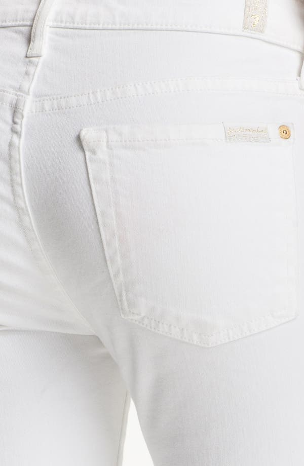 Alternate Image 3  - 7 For All Mankind® 'The Cropped Skinny' Zip Trim Jeans