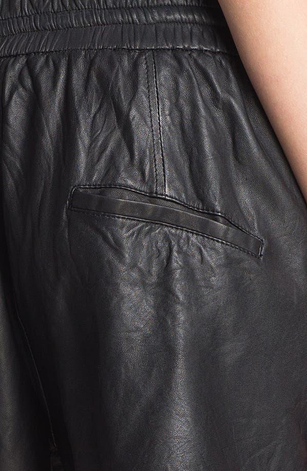 Alternate Image 3  - HELMUT Helmut Lang Washed Leather Shorts