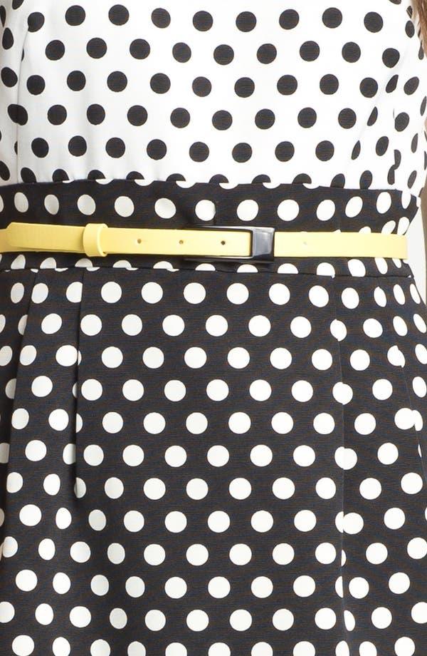 Alternate Image 3  - Tahari Polka Dot Belted Sheath Dress (Petite)