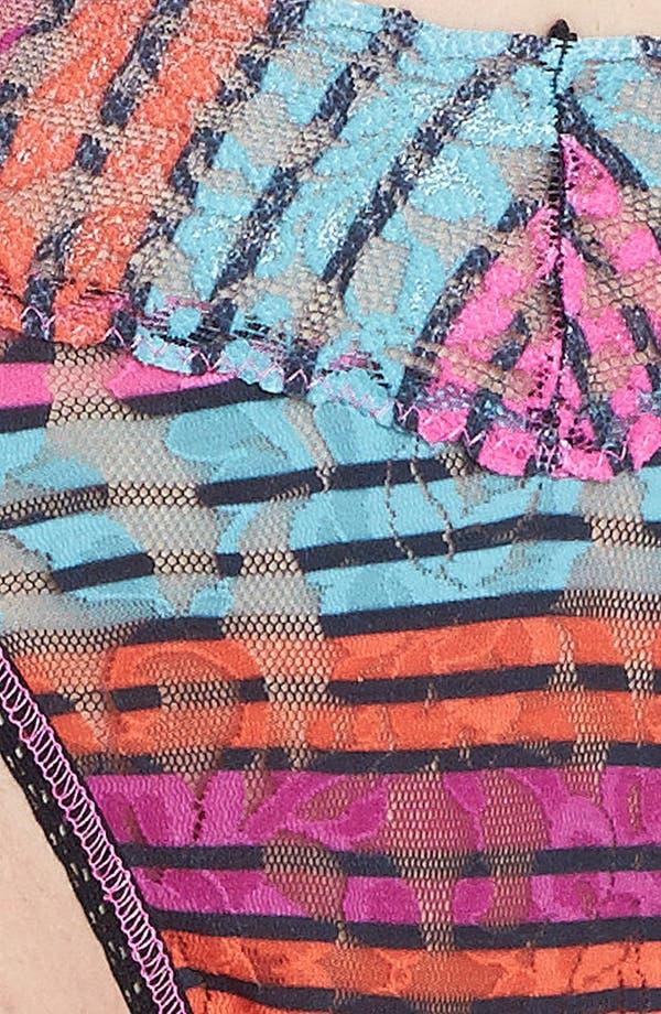 Alternate Image 3  - Hanky Panky 'Licorice Stripe' Regular Rise Thong test IMT hello