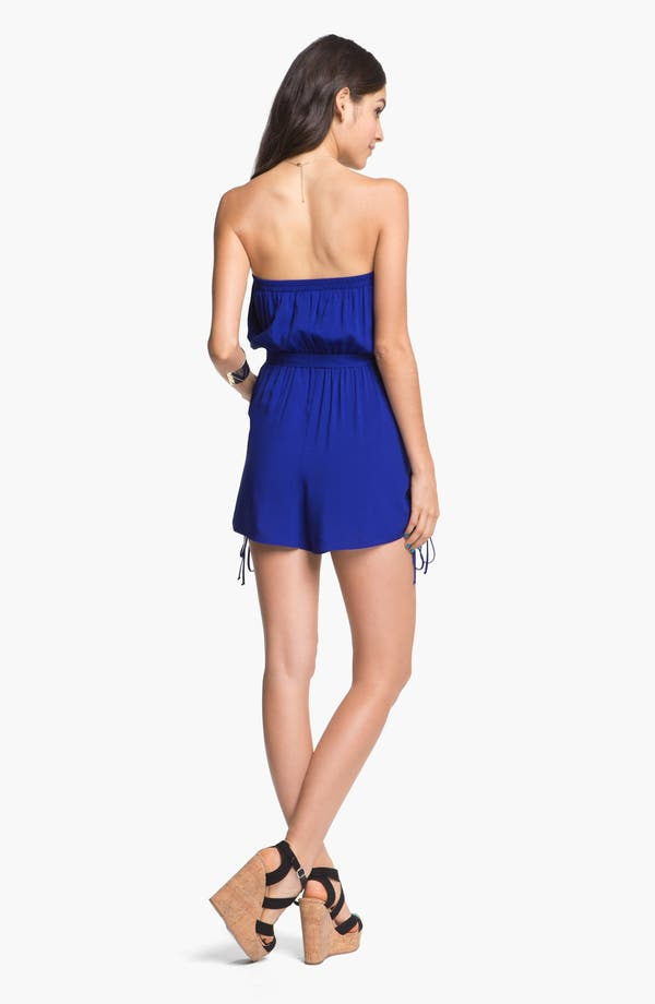 Alternate Image 2  - Fire Ruffle Front Romper (Juniors) (Online Only)
