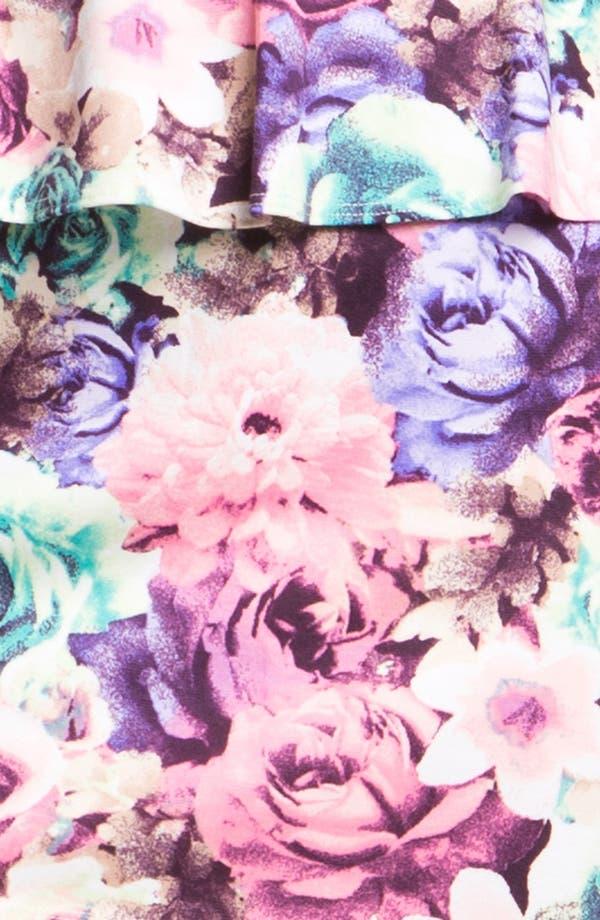 Alternate Image 3  - As U Wish Floral Print Peplum Dress (Juniors)