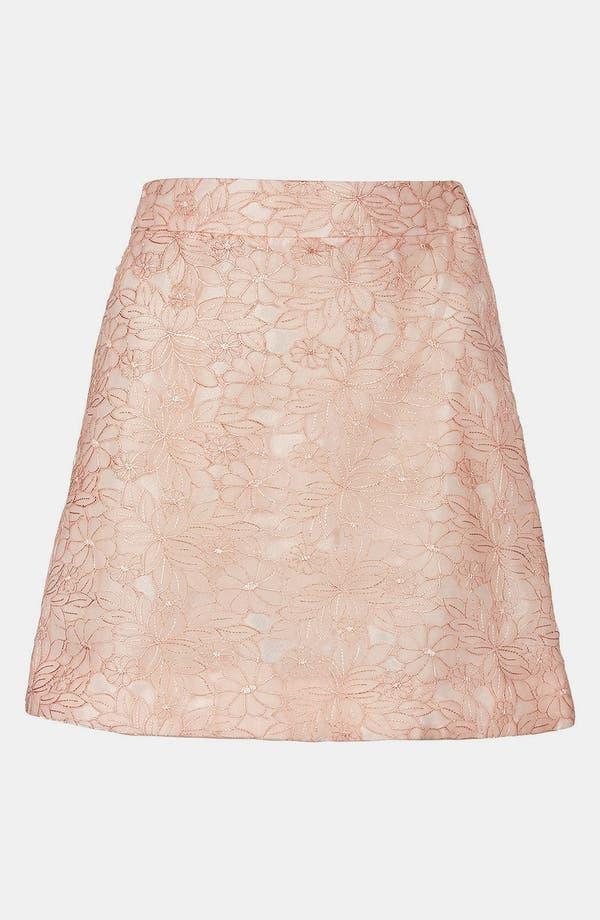Alternate Image 3  - Topshop Embroidered High Waist A-Line Miniskirt