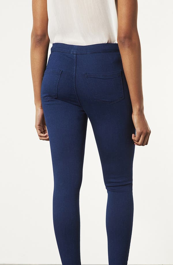 Alternate Image 2  - Topshop Moto 'Joni' High Rise Skinny Jeans (Blue)