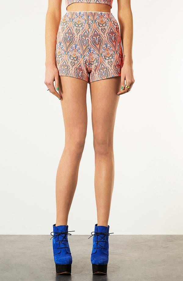 Alternate Image 1 Selected - Topshop Paisley Shorts