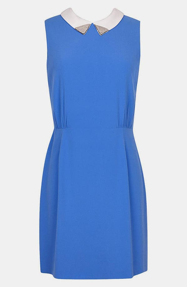 Main Image - sandro 'Rodeo' Embellished Stretch A-Line Dress