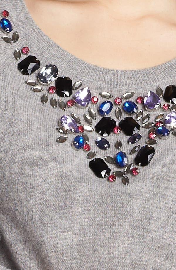Alternate Image 5  - Halogen® Jewel Neck Cashmere Sweater