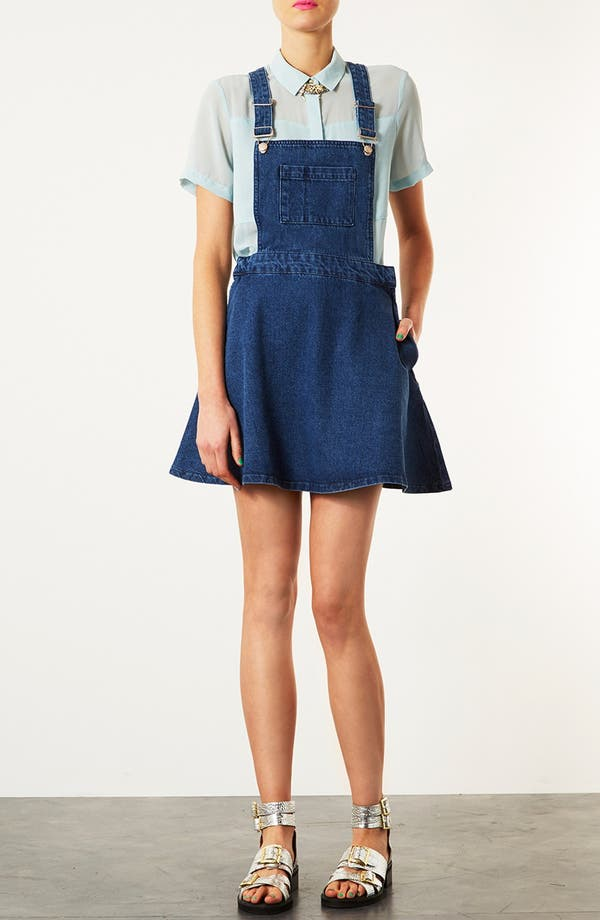 Alternate Image 1 Selected - Topshop Moto 'Annie' Denim Dress