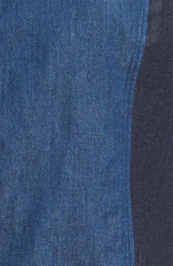 Alternate Image 3  - Viva Vena! 'Chinati' Patchwork Gauze & Chambray Dress
