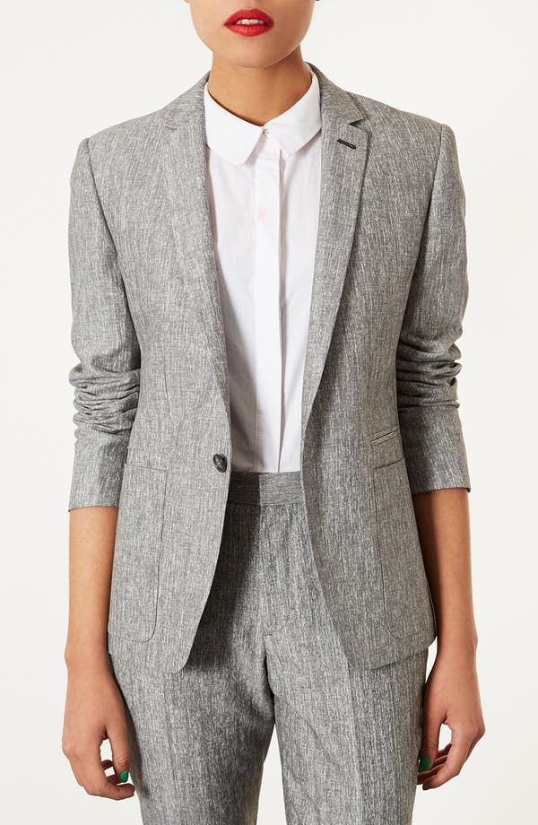 Alternate Image 1 Selected - Topshop 'Preppy Fleck' Blazer