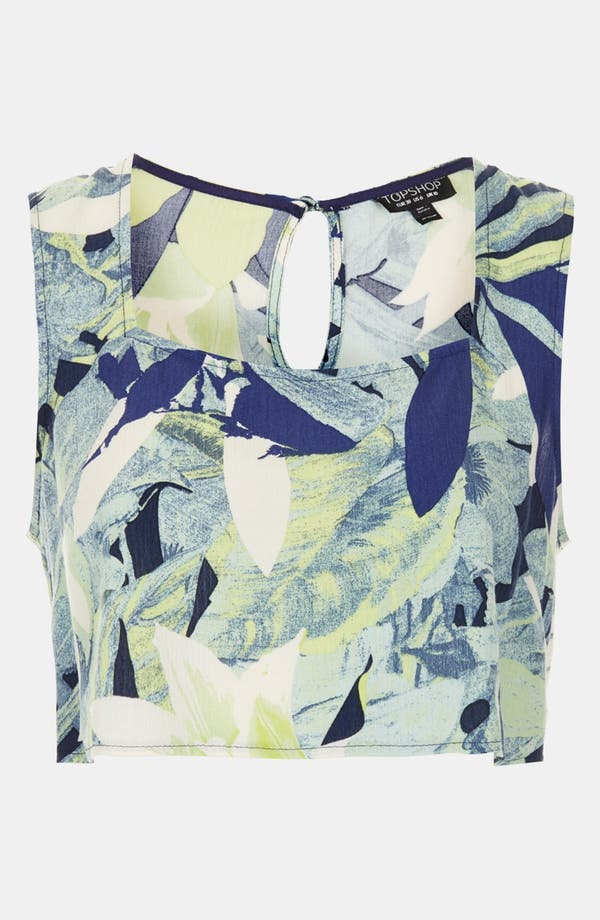Alternate Image 4  - Topshop Leaf Print Crop Top