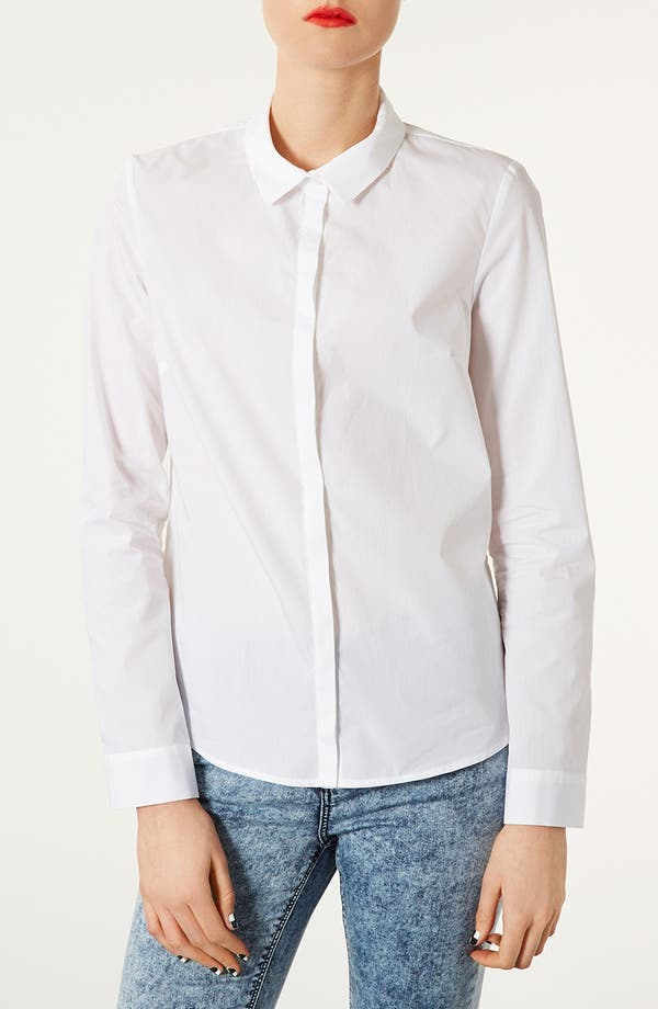Alternate Image 1 Selected - Topshop Cotton Shirt