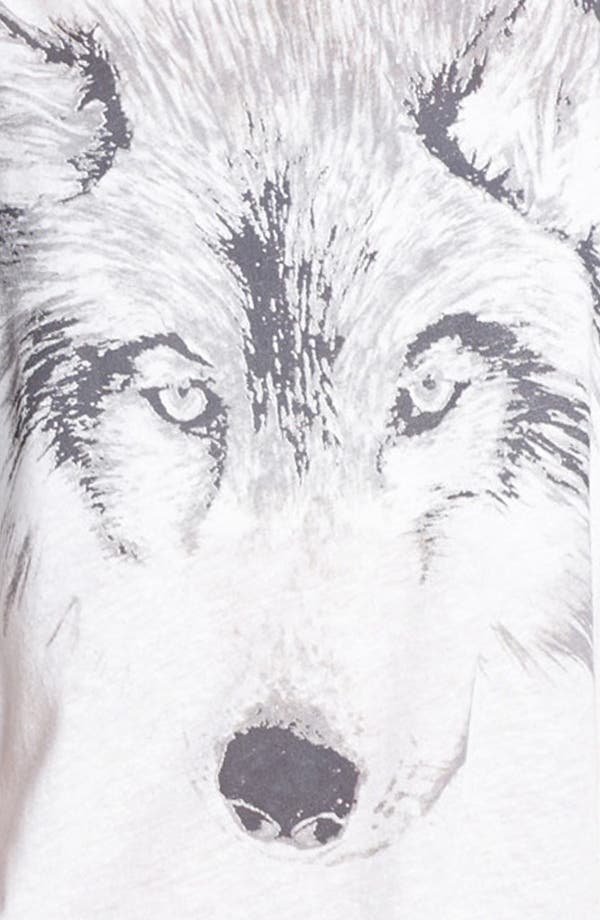 Alternate Image 3  - Lush Wolf Graphic High/Low Tank (Juniors)