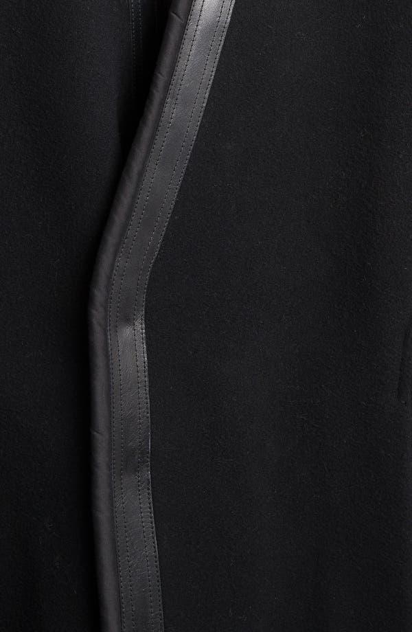 Alternate Image 3  - Rick Owens Long Leather Trim Coat