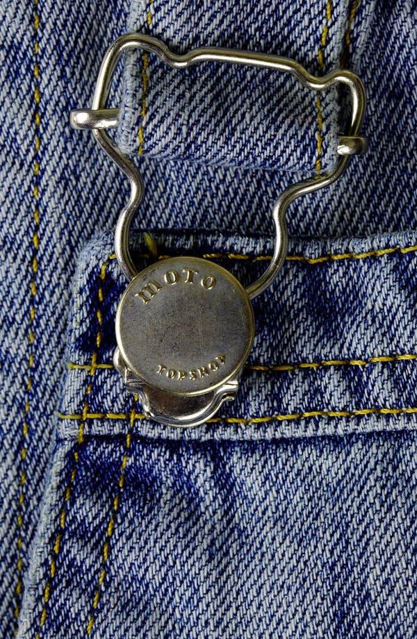 Alternate Image 3  - Topshop Moto 'Tommy' Short Overalls