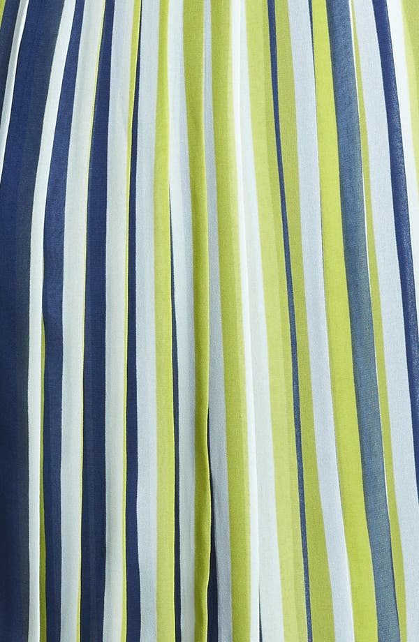Alternate Image 3  - Miss Wu Stripe Pleated Chiffon Skirt (Nordstrom Exclusive)