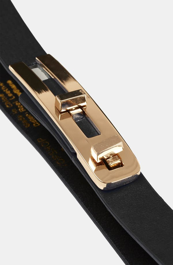 Alternate Image 3  - Topshop Metal Bar Belt