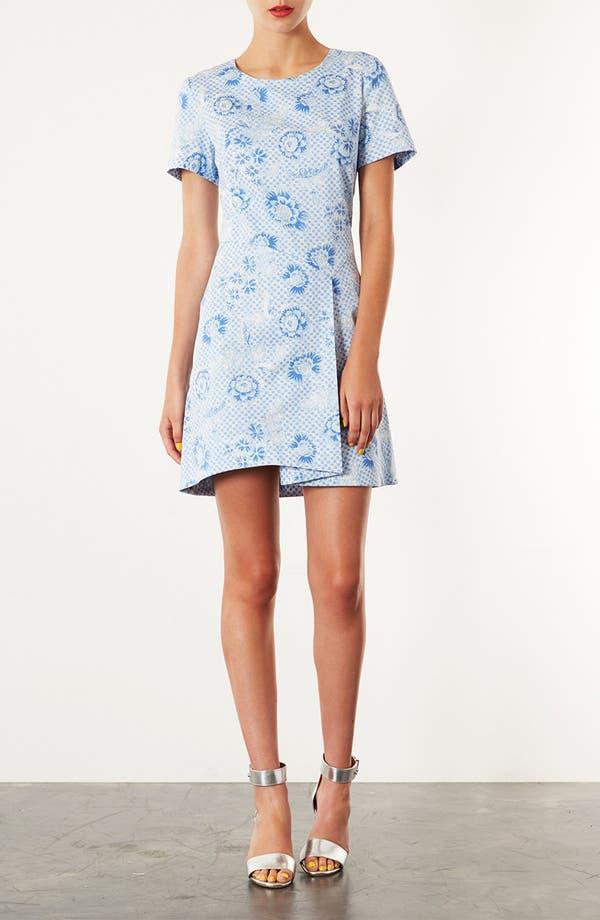 Alternate Image 1 Selected - Topshop 'Wedgewood Check' Origami Dress