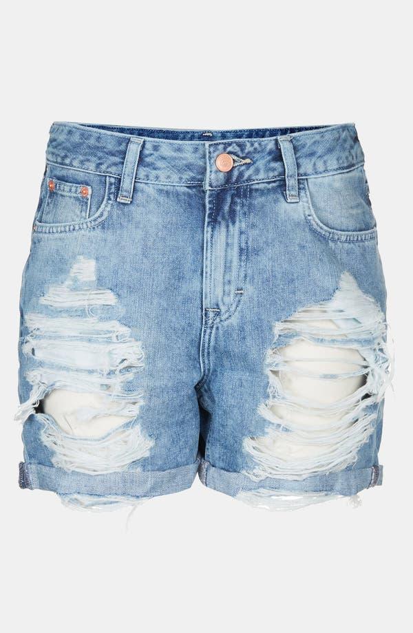 Alternate Image 3  - Topshop Destroyed Denim Shorts