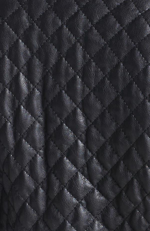 Alternate Image 3  - BCBGeneration Quilted Faux Leather Moto Jacket