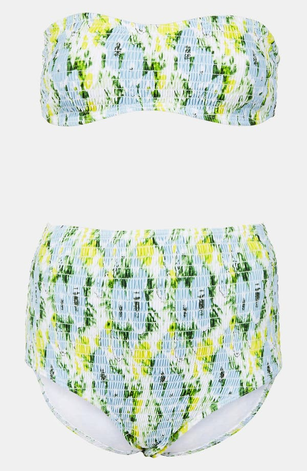 Alternate Image 1 Selected - Topshop 'Debut' Smocked Bandeau Bikini