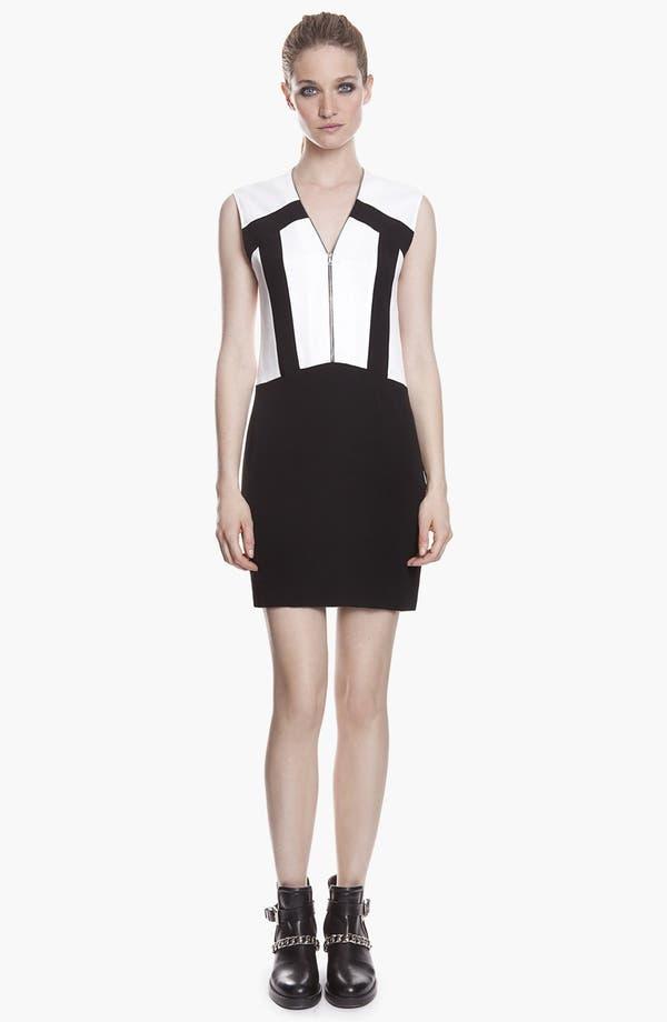 Alternate Image 1 Selected - sandro 'Ray' Zip Stretch Shift Dress