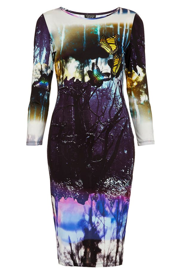 Alternate Image 3  - Topshop 'Moodywood' Body-Con Dress