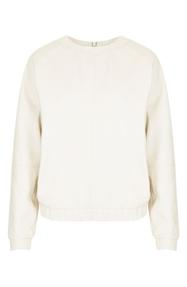 Main Image - Topshop 'The Collection Starring Kate Bosworth' Leather Sweater