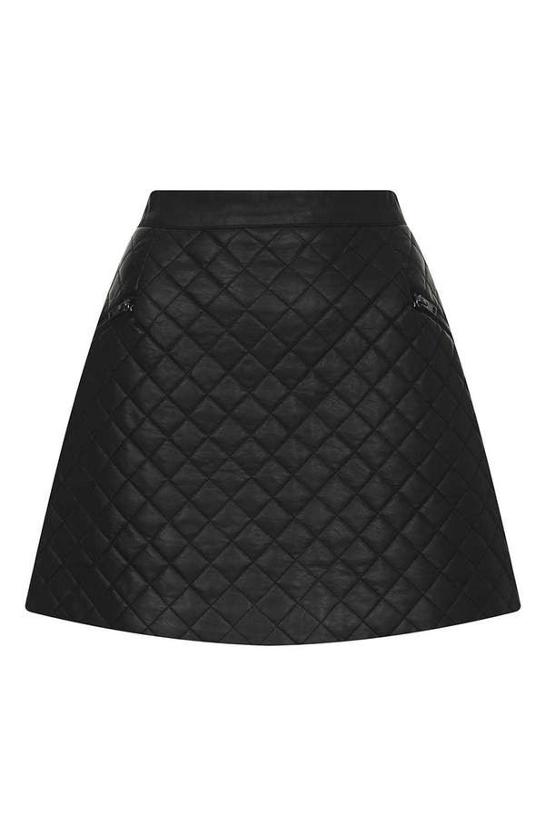 Alternate Image 3  - Topshop Quilted A-Line Skirt (Petite)