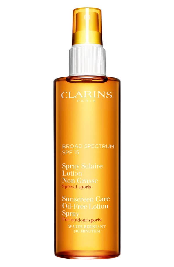 Alternate Image 1 Selected - Clarins Sunscreen Care Oil-Free Lotion Spray SPF 15