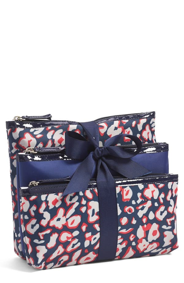 Main Image - Tri-Coastal Design Print Cosmetic Pouch Set (Juniors)