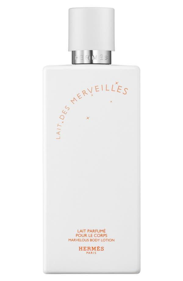 Main Image - Hermès Lait des Merveilles - Perfumed body lotion