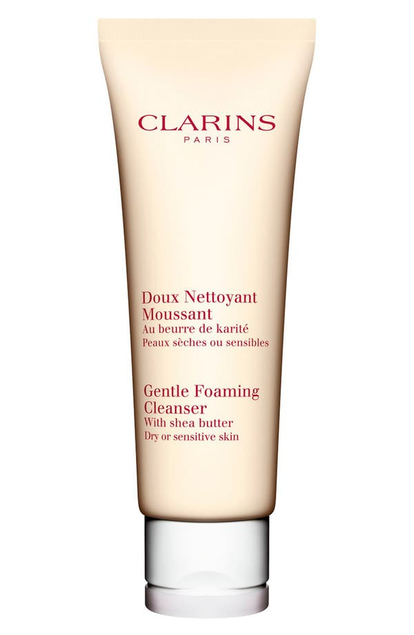 Alternate Image 1 Selected - Clarins Gentle Foaming Cleanser with Shea Butter for Dry/Sensitive Skin Types