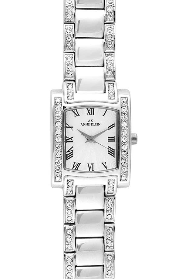 Main Image - Anne Klein Crystal Bezel Bracelet Watch