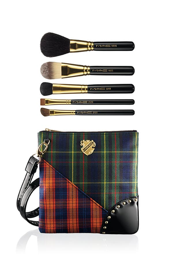 Main Image - M·A·C 'A Tartan Tale - Sweep Me Off My Feet' Sweep & Define Brush Bag