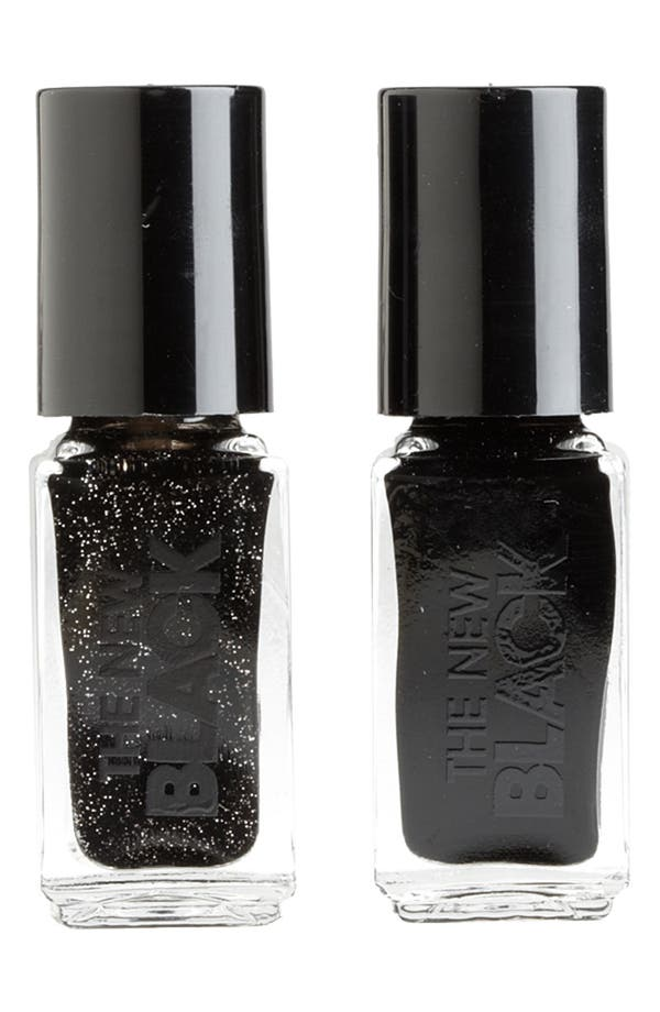 Alternate Image 1 Selected - THE NEW BLACK 'Black Ice Glimmer 'Nail Polish Duo