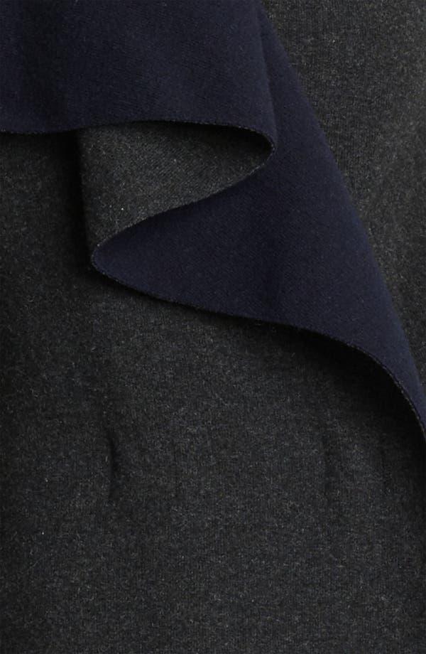 Alternate Image 3  - Lanvin Bicolor Draped Wool Jersey Coat