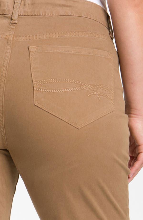 Alternate Image 3  - NYDJ 'Marilyn' Straight Leg Stretch Twill Jeans (Plus)