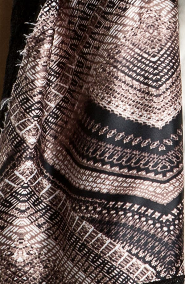 Alternate Image 2  - Nordstrom Collection Geo Print Knit Wrap