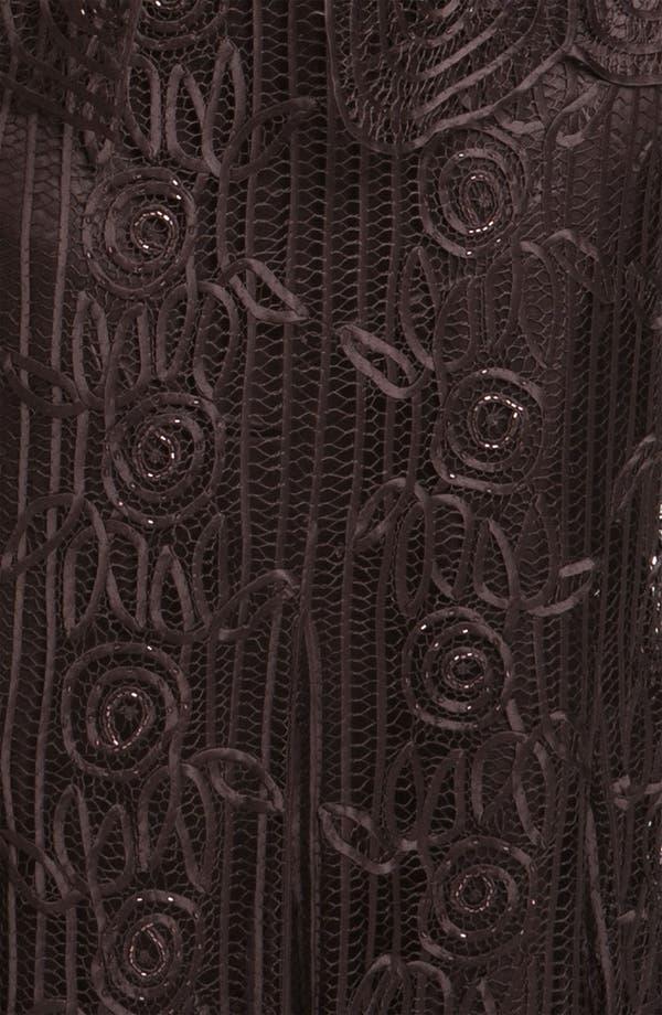 Alternate Image 3  - Soulmates Ribbon Silk Dress & Jacket (Plus Size)