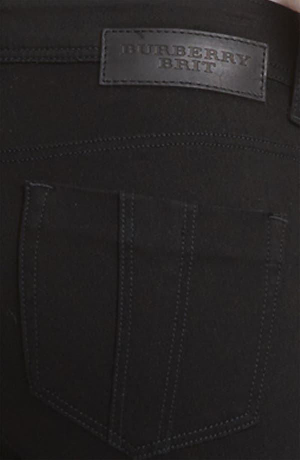 Alternate Image 3  - Burberry Brit Zip Hem Slim Jeans