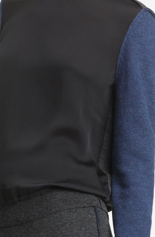 Alternate Image 3  - Lanvin Colorblock Woven & Knit Pullover